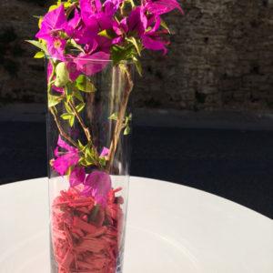 copeaux rose bonbon vase