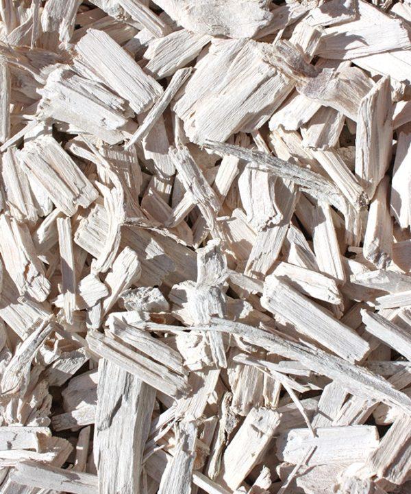 copeaux de bois blanc
