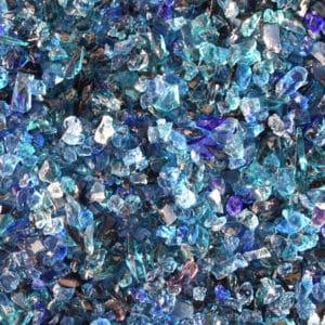 verre pilé bleu nuit