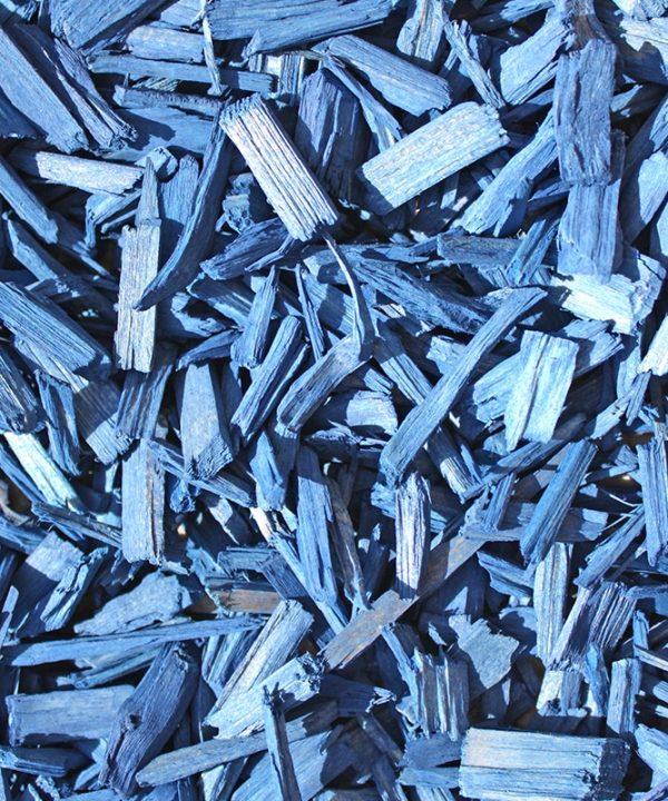 copeaux colorés bleu océan