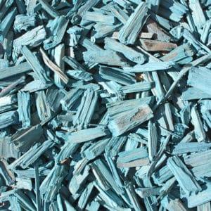 copeaux colorés bleu turquoise