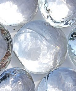 Galets de verre ronds
