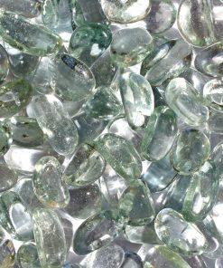 galets de verre transparent