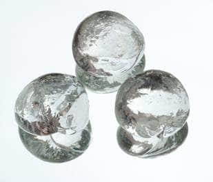 galets de verre taille