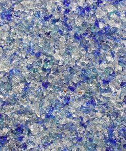 Gravier de verre fin bleu