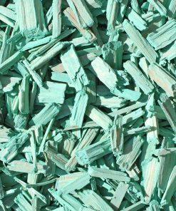 copeaux colorés vert turquoise