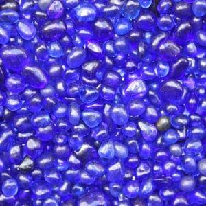 billes de verre bleu