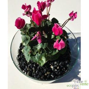 gravier roulé noir vase