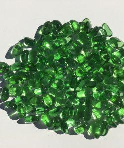 galet de verre vert table