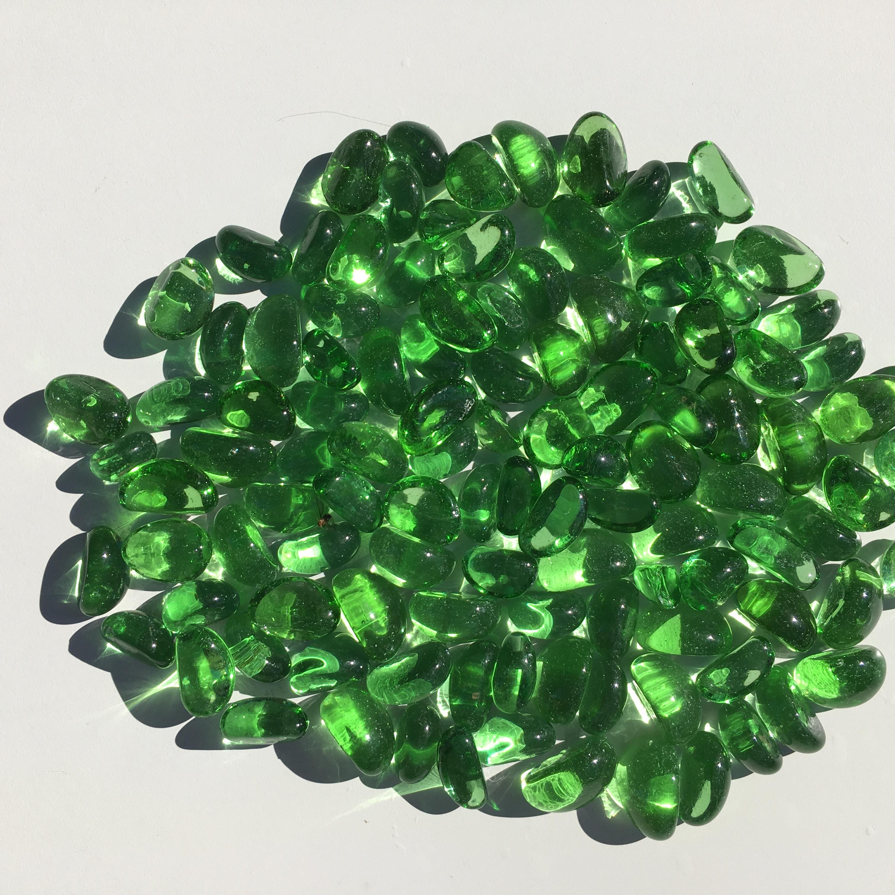 Galets de Verre Vert Pour Décoration - FibreVerte Shop