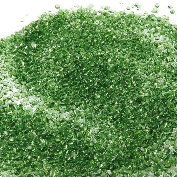 billes de verre vert