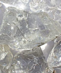 bloc de verre pilé transparent