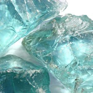 bloc de verre turquoise