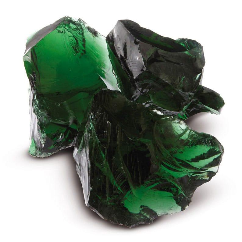 bloc de verre vert